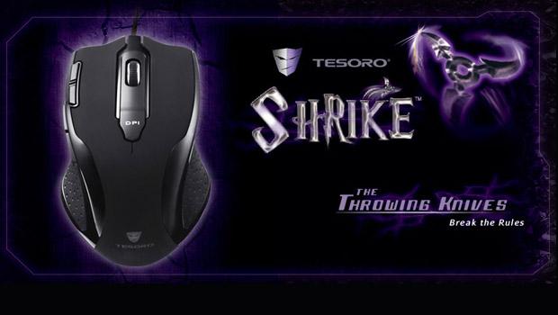 Nuevo Ratón Tesoro Shrike H2L: Black edition