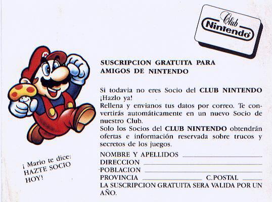 El Club Nintendo