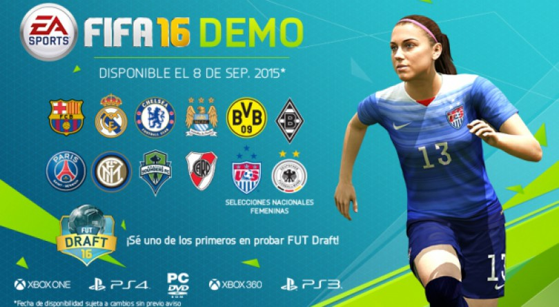 Demo de Fifa 16 ya disponible