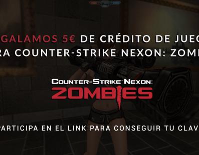 Regalamos 5€ de crédito para Counter-Strike Nexon: Zombies