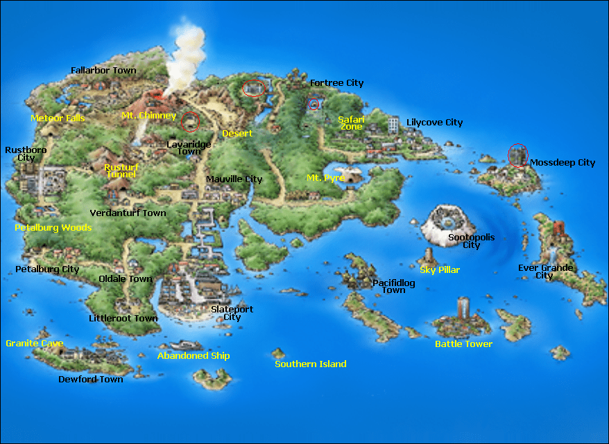 hoenn regiones de pokémon