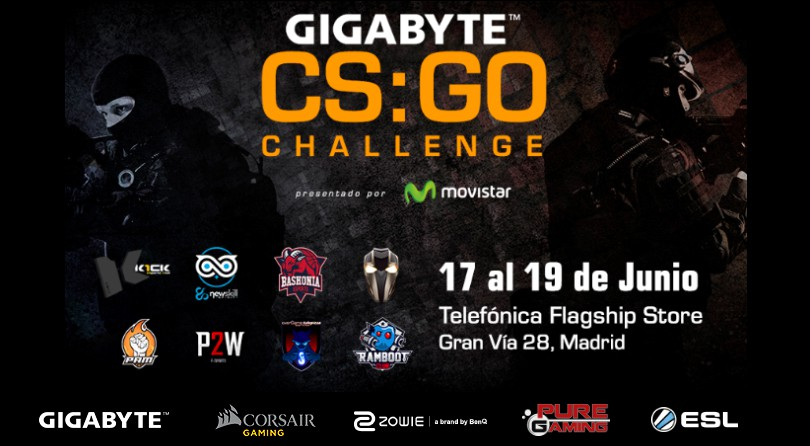Gigabyte CS:GO Challenge – El evento Gamer definitivo de CS:GO en Madrid