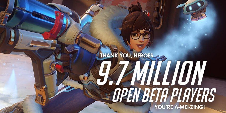 La beta abierta de Overwatch supera los 9.7 millones de jugadores