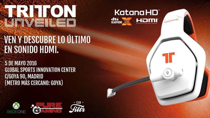 Ven a la presentación de los TRITTON Katana HD