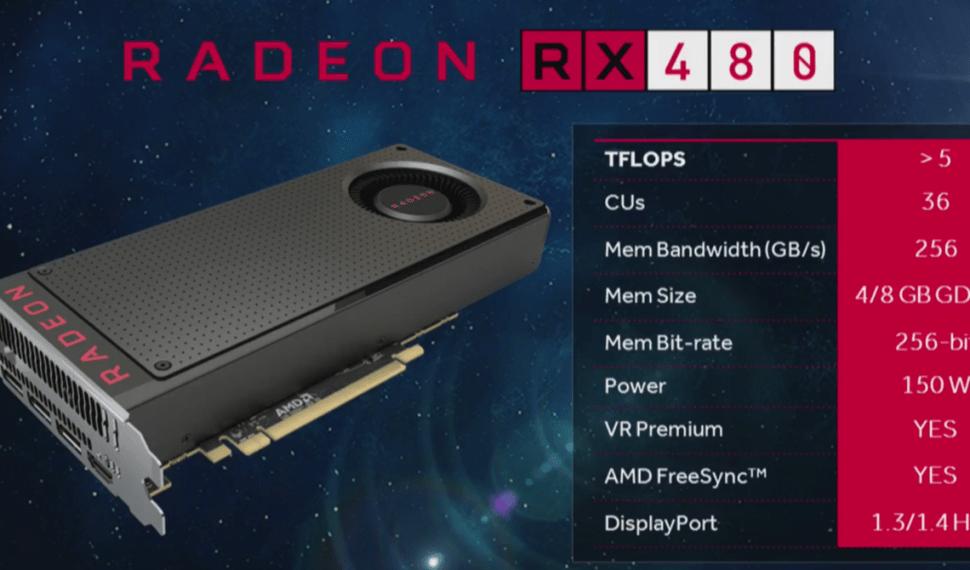 AMD Radeon RX480 ¡Bienvenido Polaris!