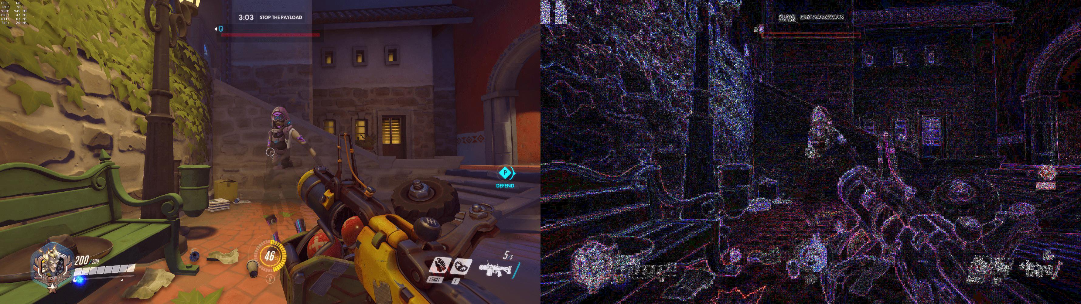 Sombra apareciendo supuestamente frente a un jugador en el mapa de Dorado.