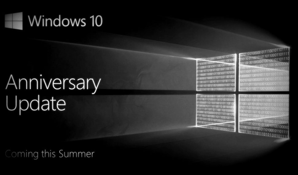Anniversary, actualización de Windows 10 disponible