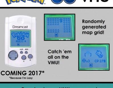Pokémon GO llegará a VMU de Dreamcast