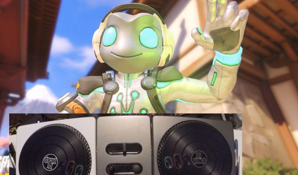 Este usuario ha jugado a Lucio con la mesa de mezclas de DJ Hero