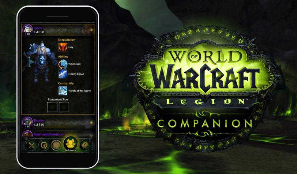 Ya disponible la app WoW Legion Companion