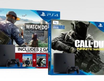 Primeros packs anunciados de PlayStation 4 Slim – Watch Dogs 2 y CoD: Infinite Warfare