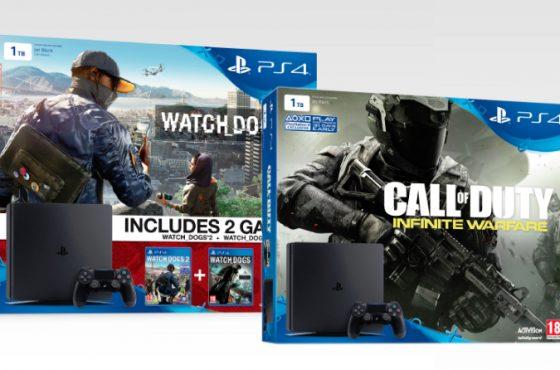 Primeros packs anunciados de PlayStation 4 Slim – Watch Dogs 2 y CoD: Infinite Warfare