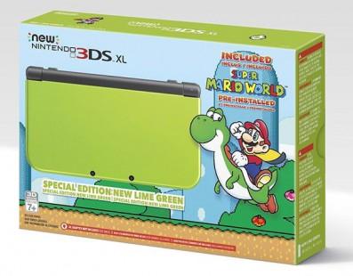 Amazon muestra una New Nintendo 3DS XL verde lima exclusiva