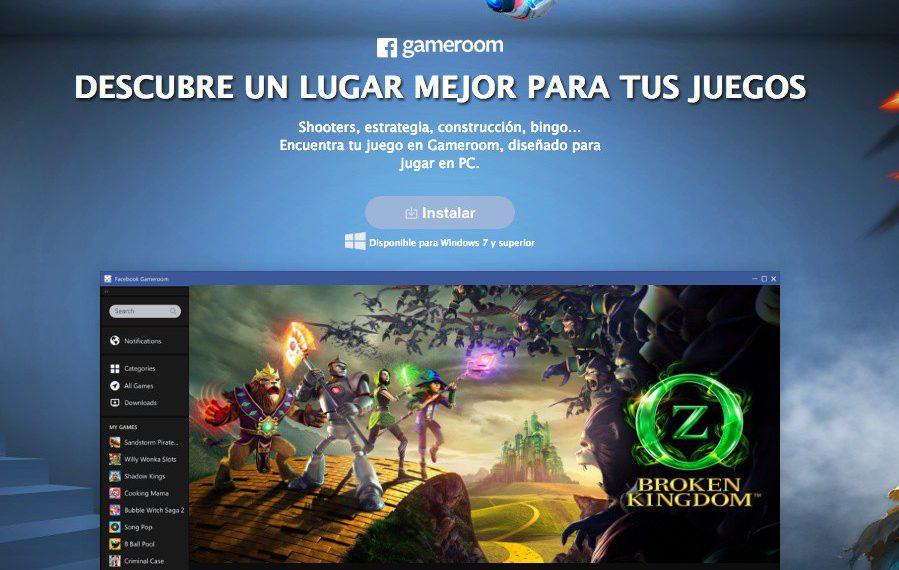 Ya puedes probar Gameroom, la plataforma de juegos de Facebook