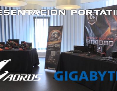 Presentación portátiles Aorus y Gigabyte 100% gaming