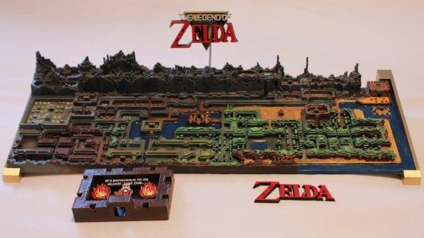 El mapa de The Legend of Zelda impreso en 3D
