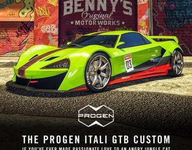 Ya disponible Progen Itali GTB Personalizado, el coche más caro de GTA Online