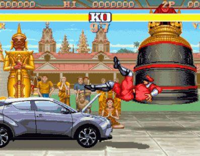 Toyota recrea una pelea entre un coche y M.Bison