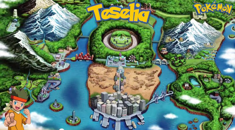 Regiones de pokemon Teselia