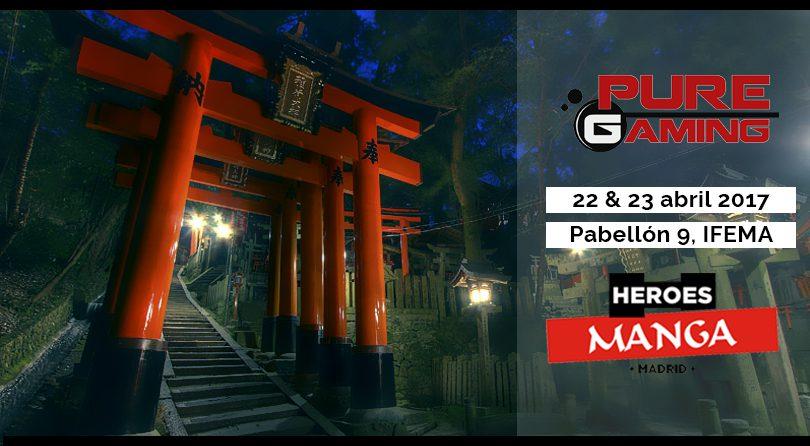 PureGaming estará en Heroes Manga. Videojuegos competitivos, diversión y premios. ¡Te esperamos!