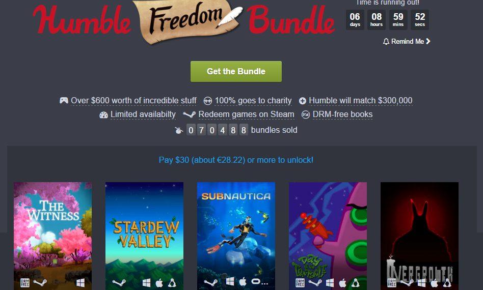 Humble Freedom Bundle – Juegos para apoyar la libertad en contra de las medidas adoptadas por Trump contra los inmigrantes