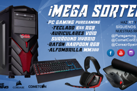 MEGASORTEO COMETCON'17 – PC GAMING COMPLETO CON PERIFÉRICOS CORSAIR