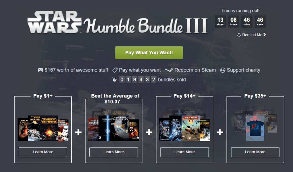 Nuevo Humble Bundle Star Wars ya disponible y es… ¡irresistible!