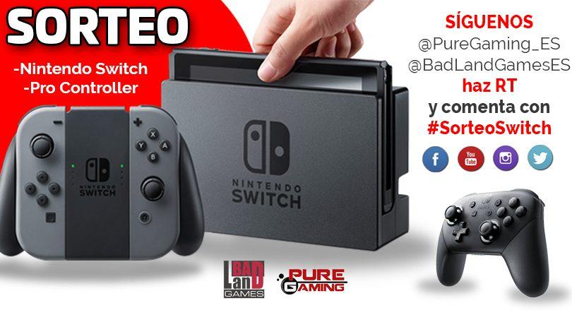 Sorteo consola Nintendo Switch + Pro-Controller. ¡Mucha suerte!