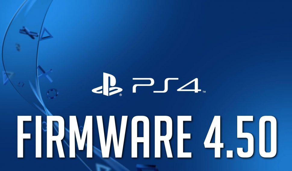 El firmware 4.50 de PlayStation 4 estará disponible mañana
