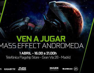 No te pierdas el evento exclusivo de Mass Effect Andromeda en Telefónica Flagship Store de Gran Vía 28 de Madrid