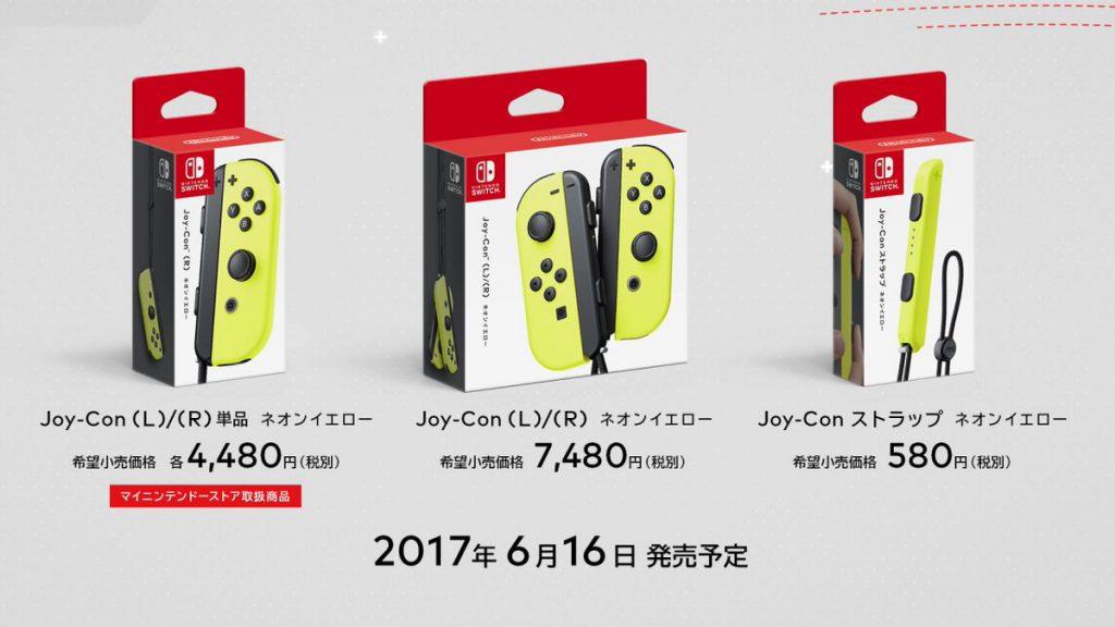 Joy-Con Amarillo Neon y Precios
