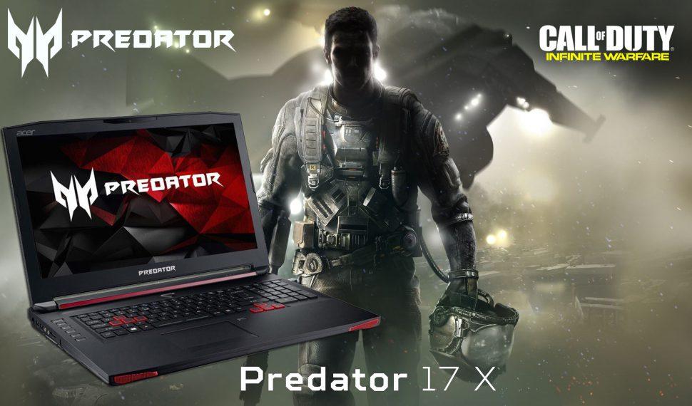 En Gaming Explosion disfruta jugando a COD Infinite Warfare con portátiles PREDATOR 17X y PREDATOR 17