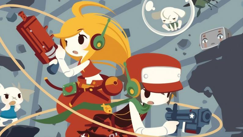 Se muestra la versión en físico del juego Cave Story+ para Nintendo Switch