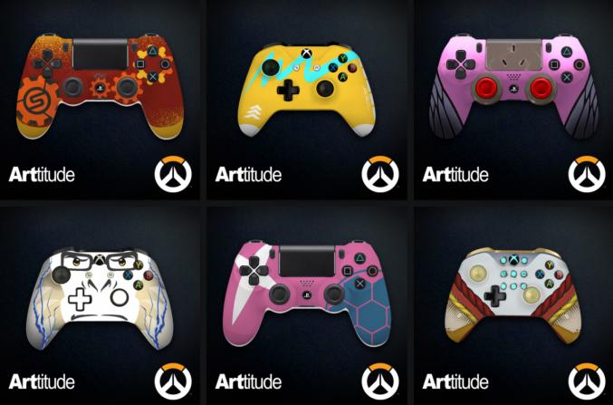 Blizzard personaliza unos mandos con motivos de Overwatch