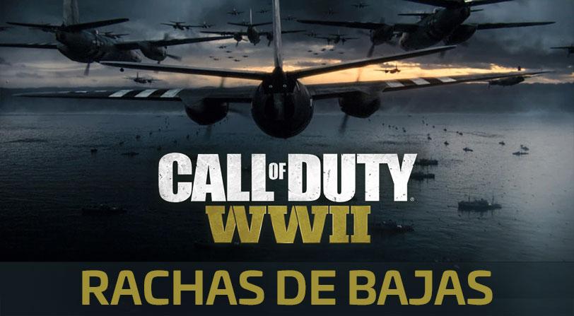 Call of Duty WWII: Todas las rachas de bajas