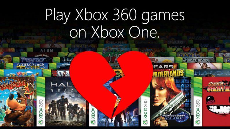 La retrocompatibilidad de Xbox One se utiliza un 2% del tiempo por los usuarios según una encuesta