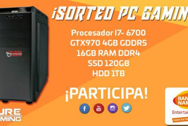 SORTEO PC GAMING CON BANDAI NAMCO. ¿Lo quieres? ¡Participa!