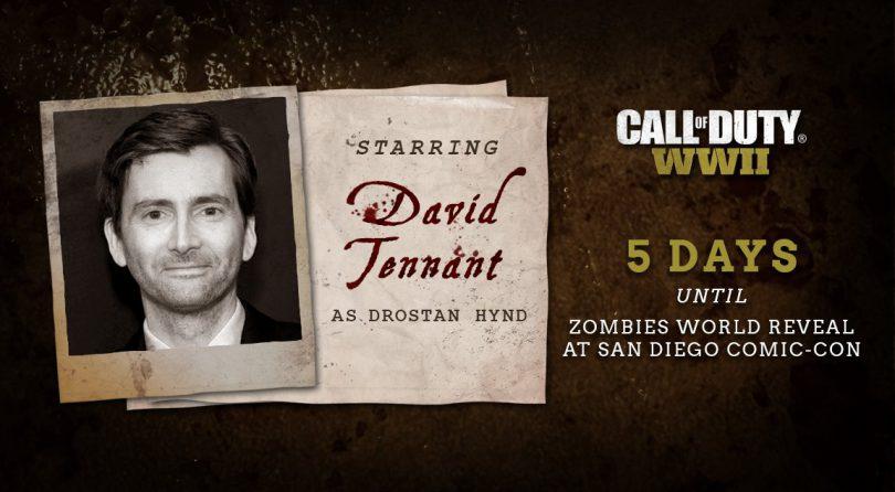 David Tennant será uno de los personajes del modo zombie de Call of Duty WWII