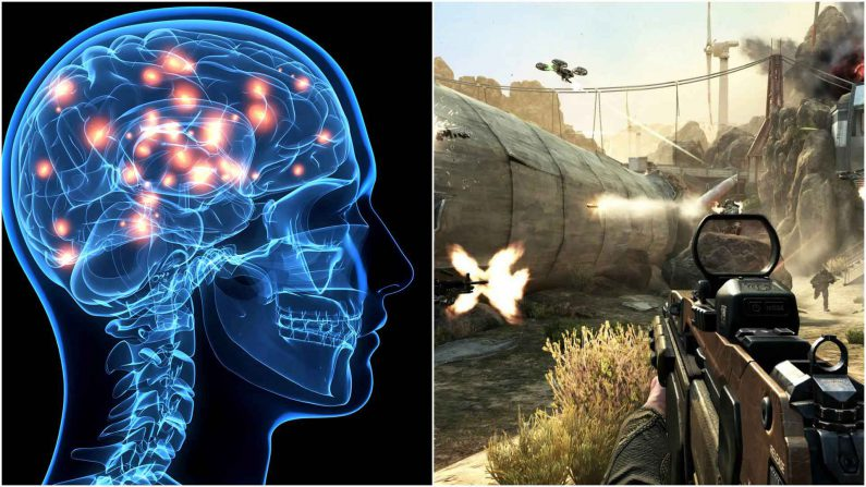 Jugar a shooters podría dañar el cerebro según un estudio