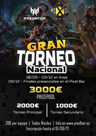 Pixel Bar organiza un nuevo torneo en línea de League of Legends