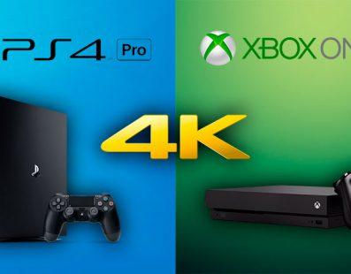 PlayStation 4 Pro Vs Xbox One X ¿Cual es mejor para reproducir contenido en 4K?