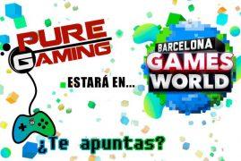 Puregaming estará en Barcelona Games World