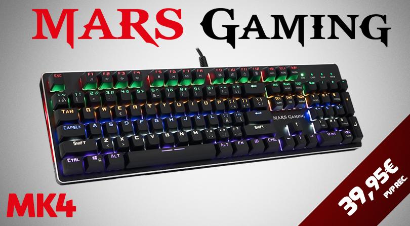 Mars Gaming MK4, el nuevo teclado mecánico al alcance de todos