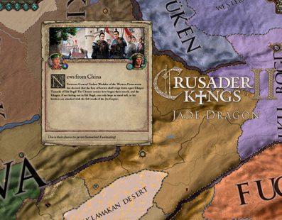 La expansión Jade Dragon de Crusader Kings 2 trae consigo al Imperio chino