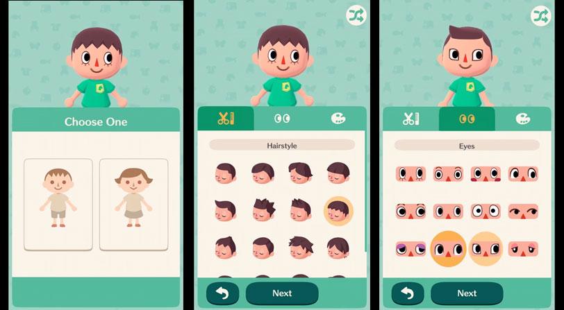 Configura tu personaje, Animal Crossing Pocket Camp