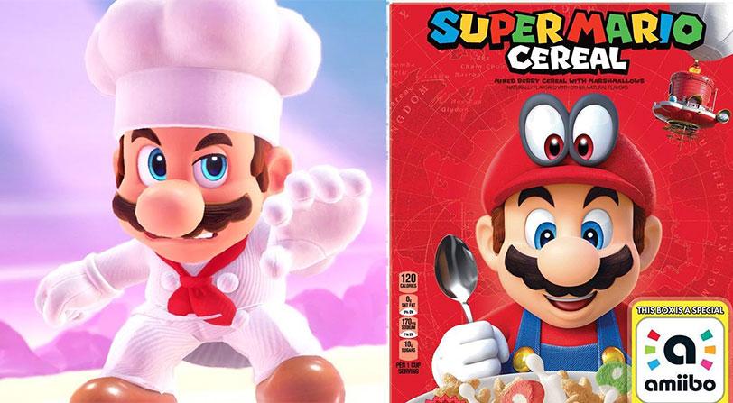 ¿Unos cereales de Super Mario? Nunca digas nunca