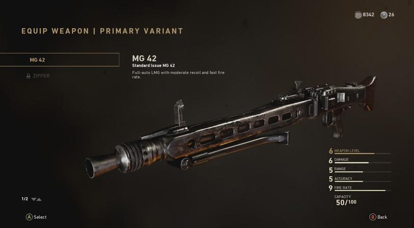 armas prestigio cod ww2
