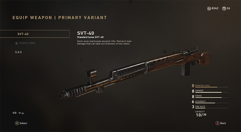 armas prestigio call of duty ww2
