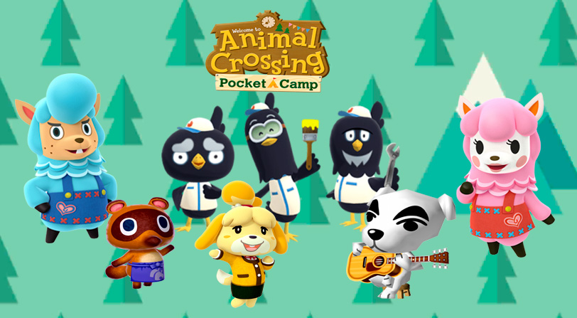 Animal crossing pocket camp Personajes guia