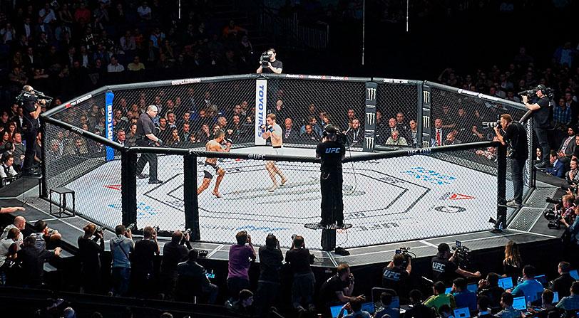 Emiten un combate real de UFC simulando que era un videojuego